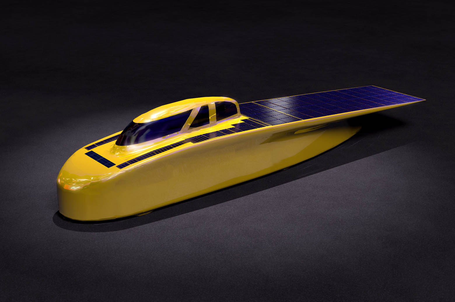 Illustration of solar car, Novum