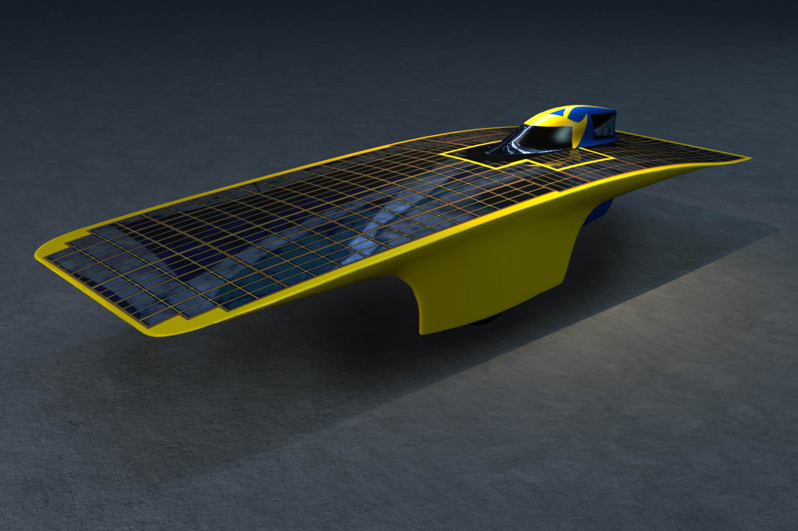Illustration of solar car, Quantum.