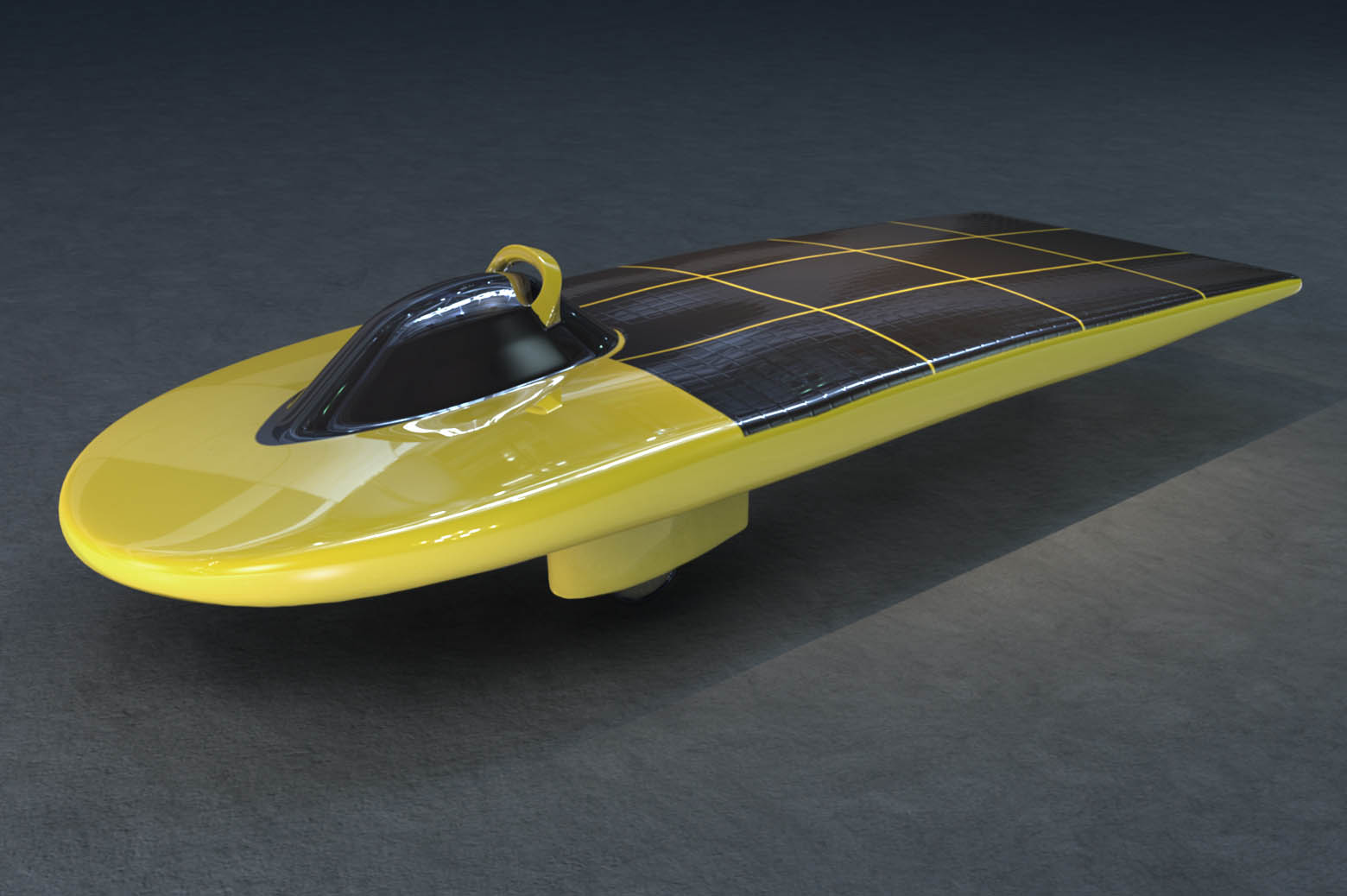 Illustration of solar car, Solar Vision.