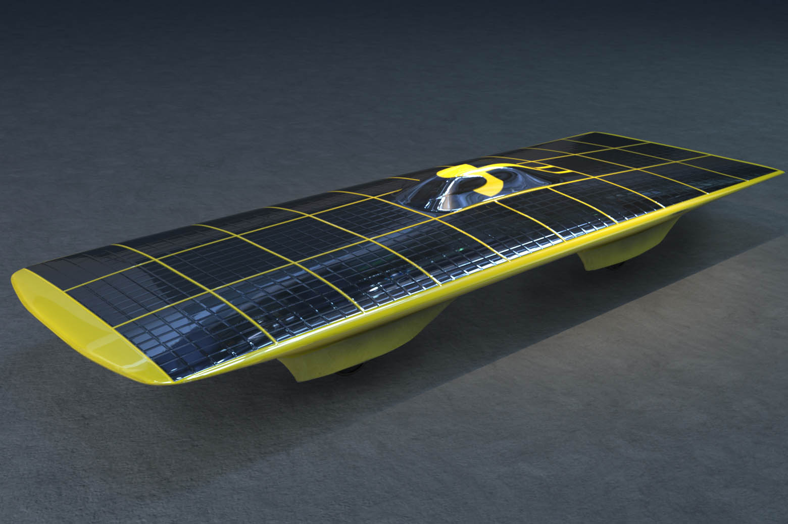 Illustration of solar car, Spectrum.