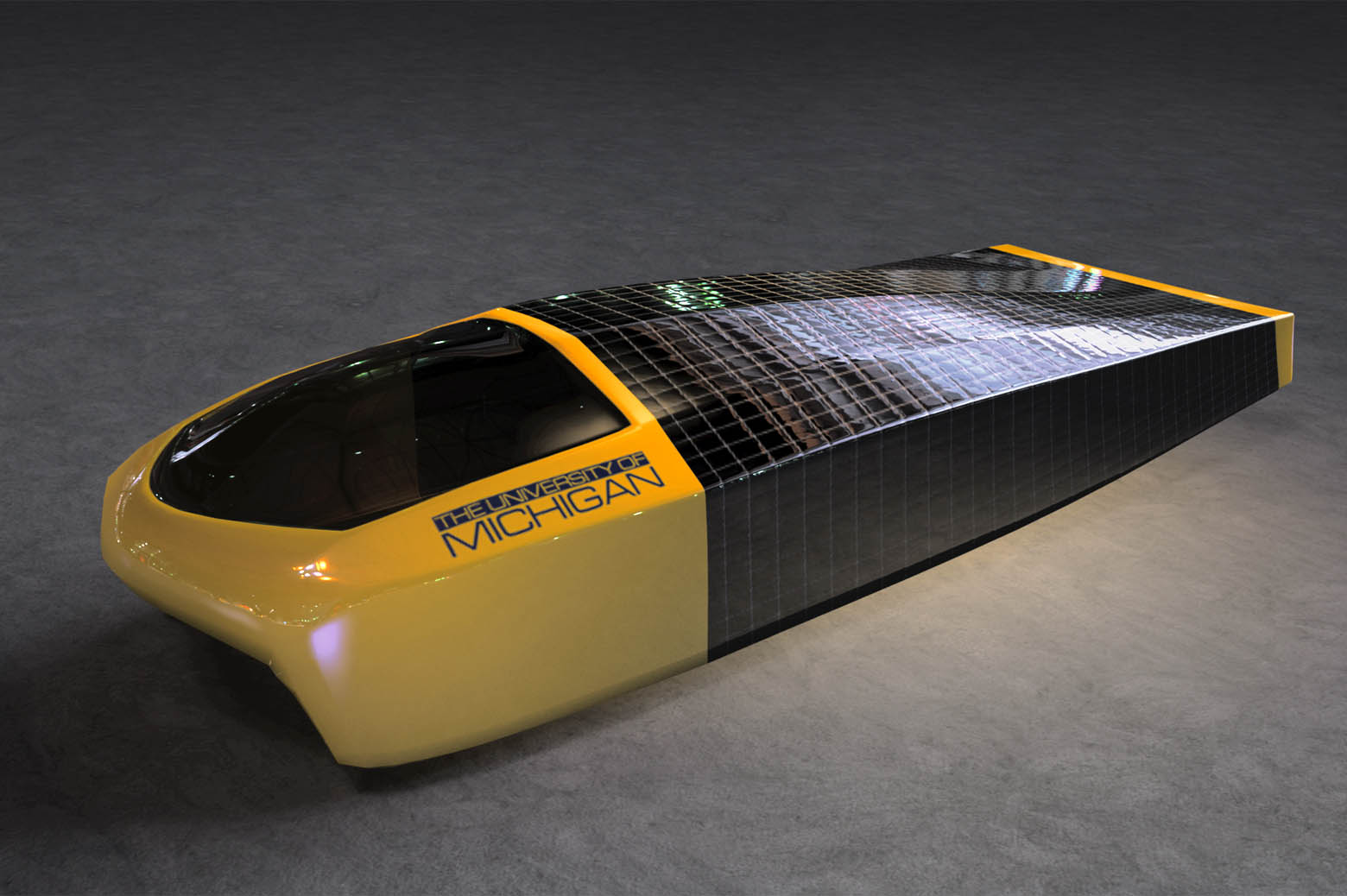 Illustration of solar car, Sunrunner.