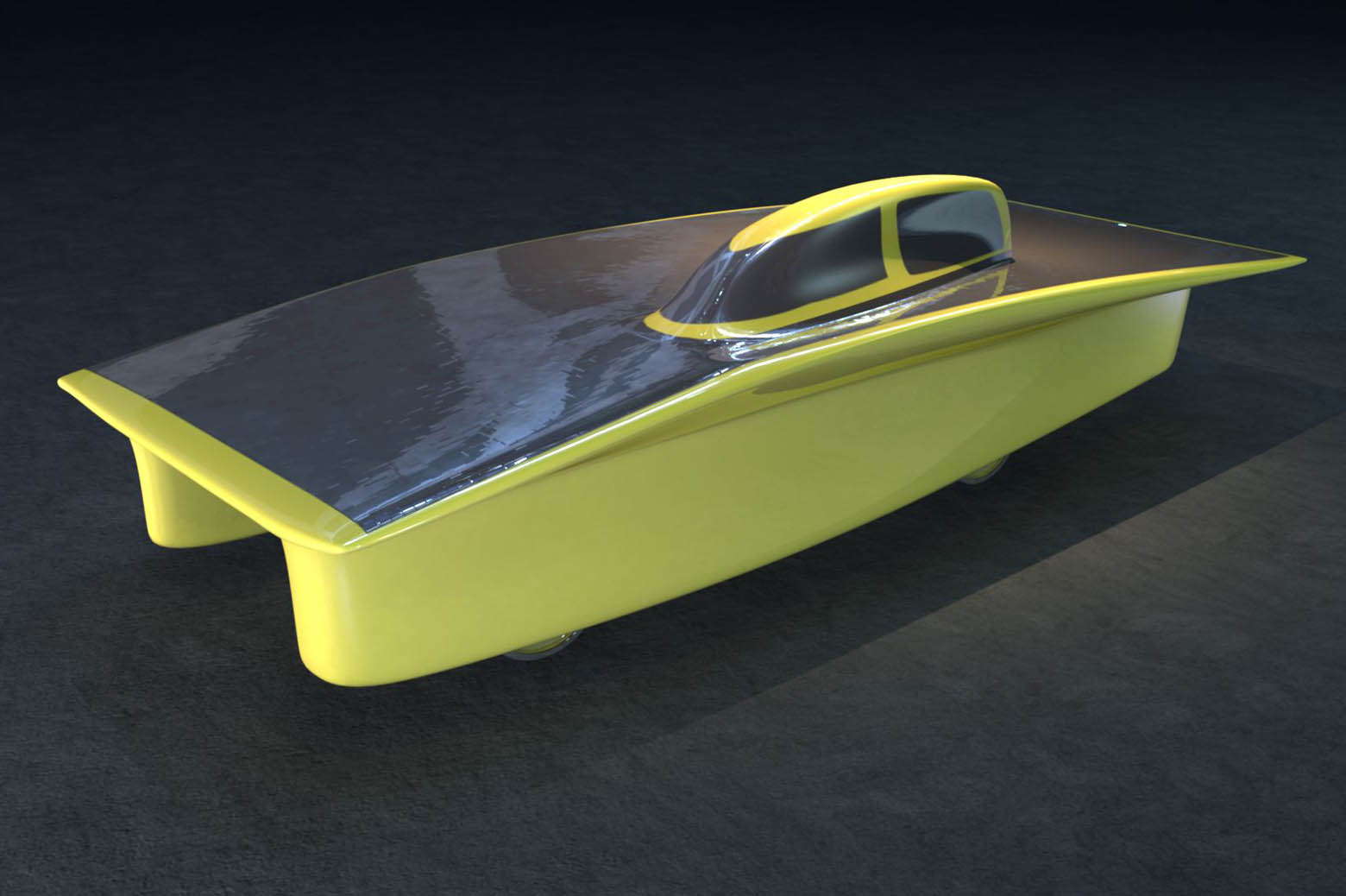 illustration of solar car, Generation.