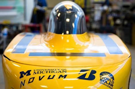 Nose of solar car, Novum.