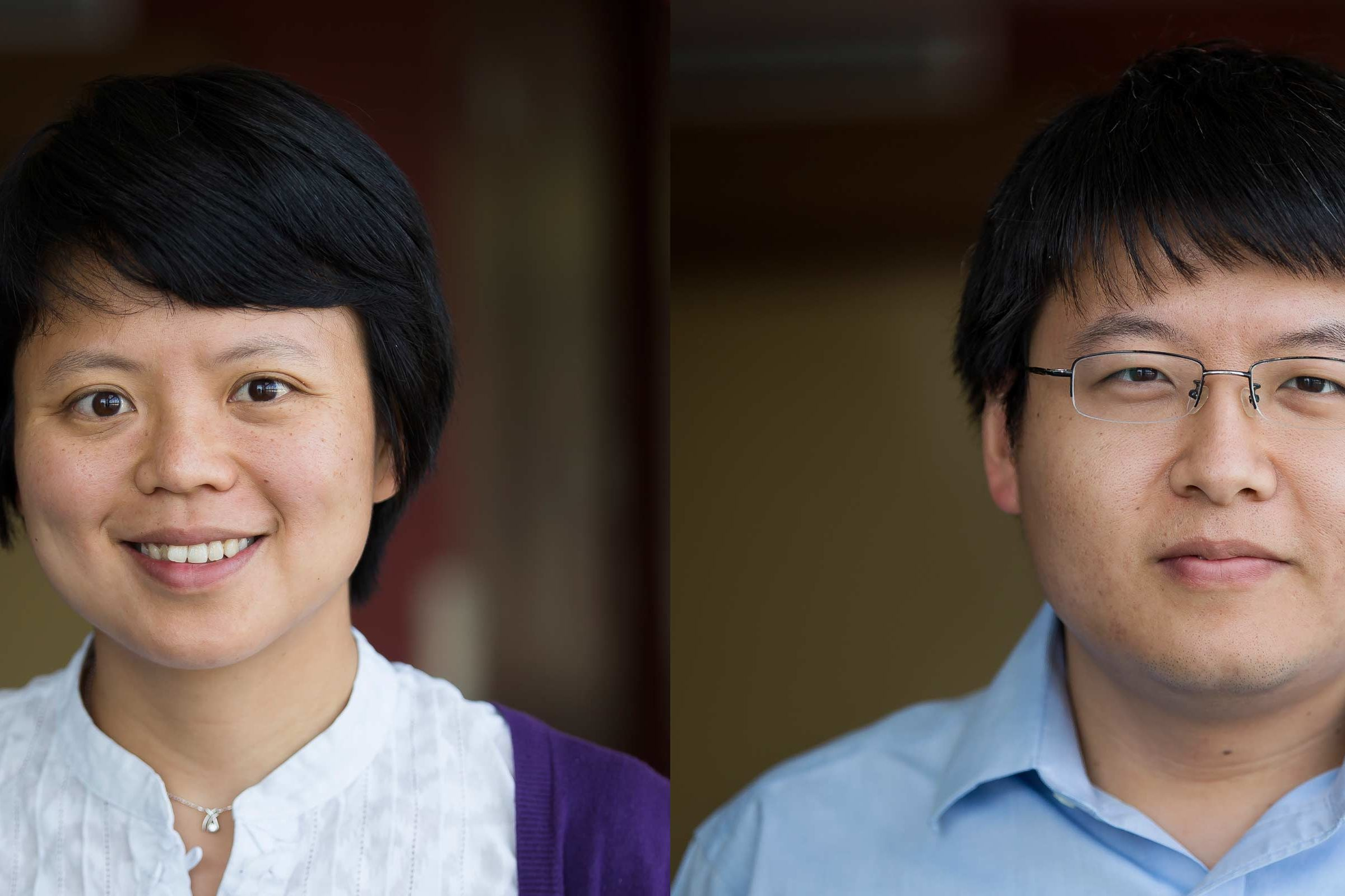 Professors Siqian Shen and Ruiwei Jiang. Photos by Joseph Xu, Michigan Engineering.