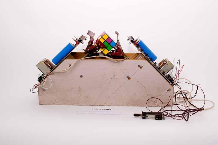 Claude Shannon's Rubik's cube solver