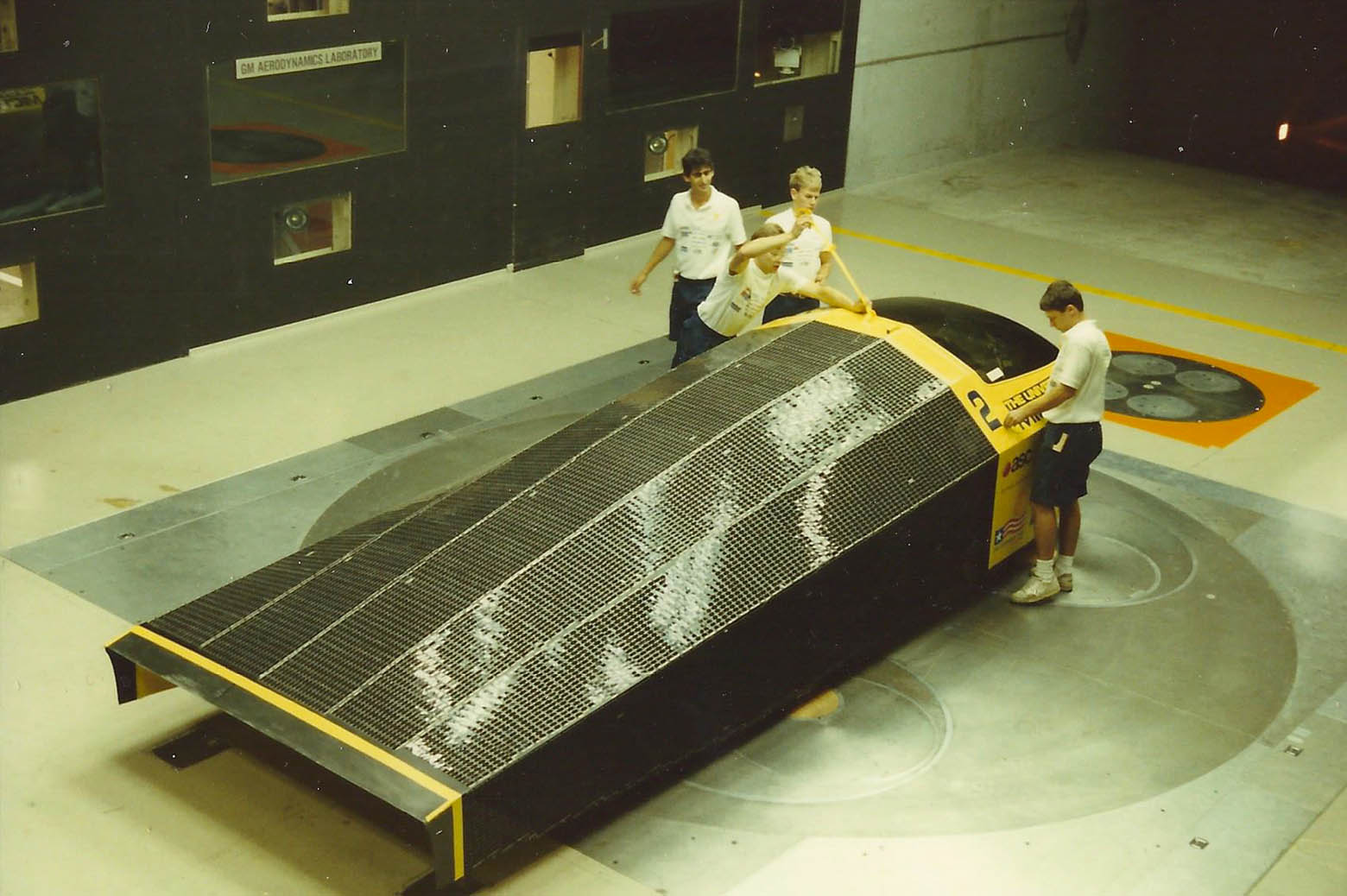 Building and testing the first solar car, Sunrunner.