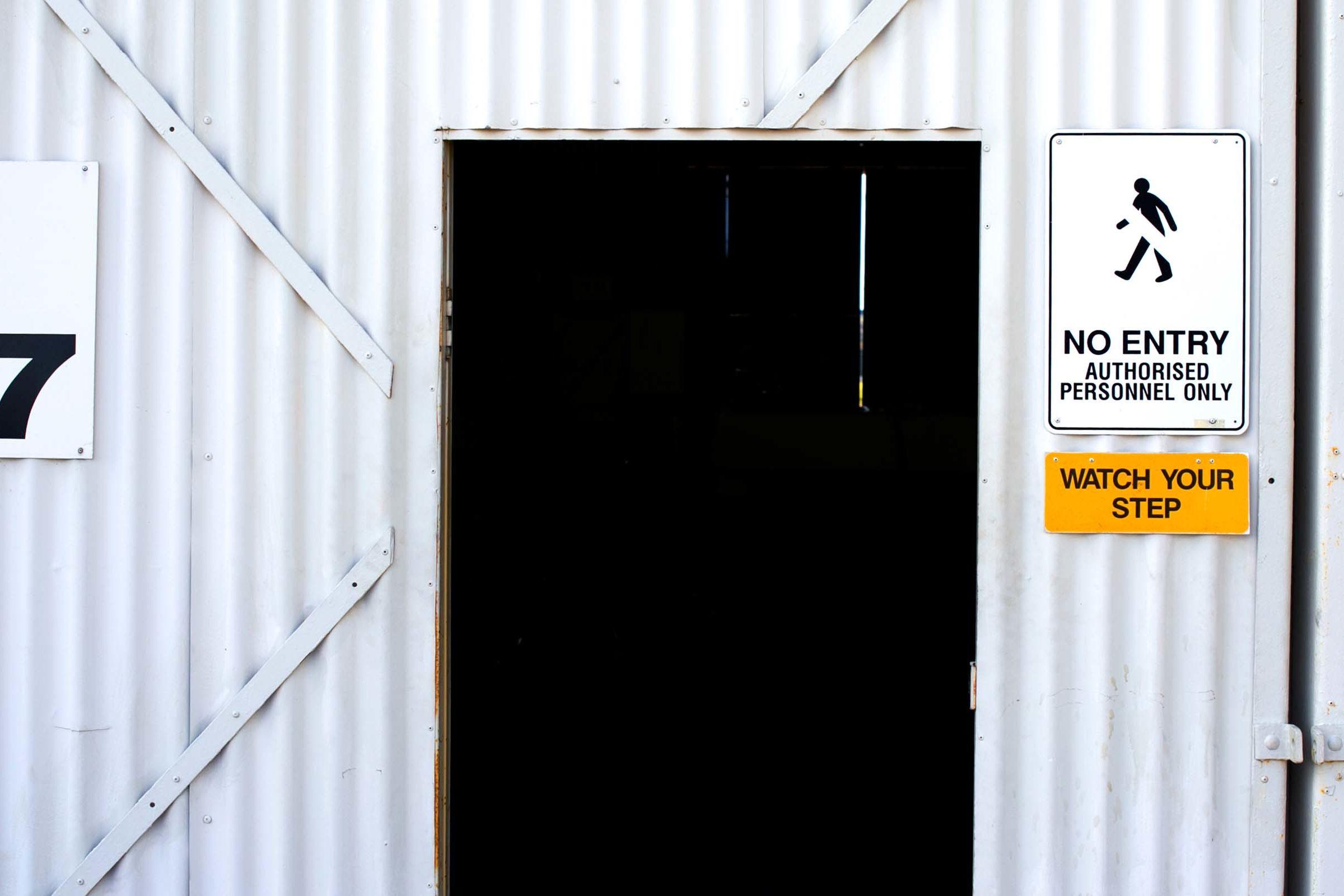 Front door to Hangar 107
