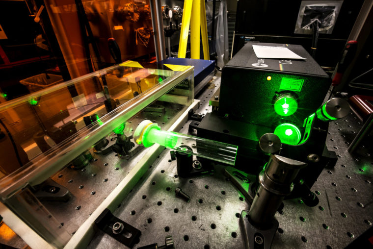 A photograph of a laser.