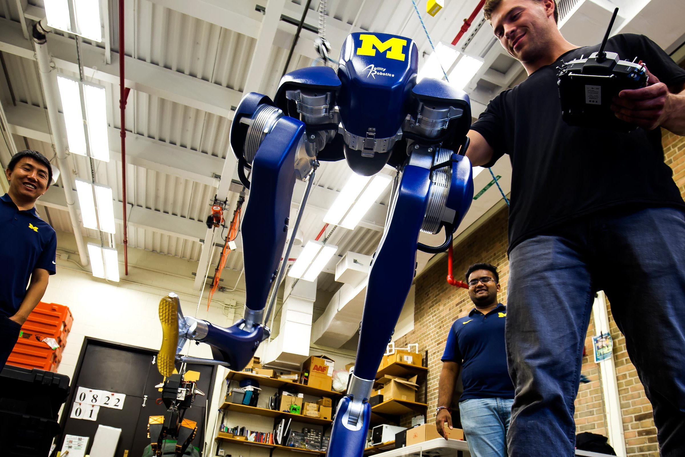 Latest two-legged walking robot arrives at Michigan