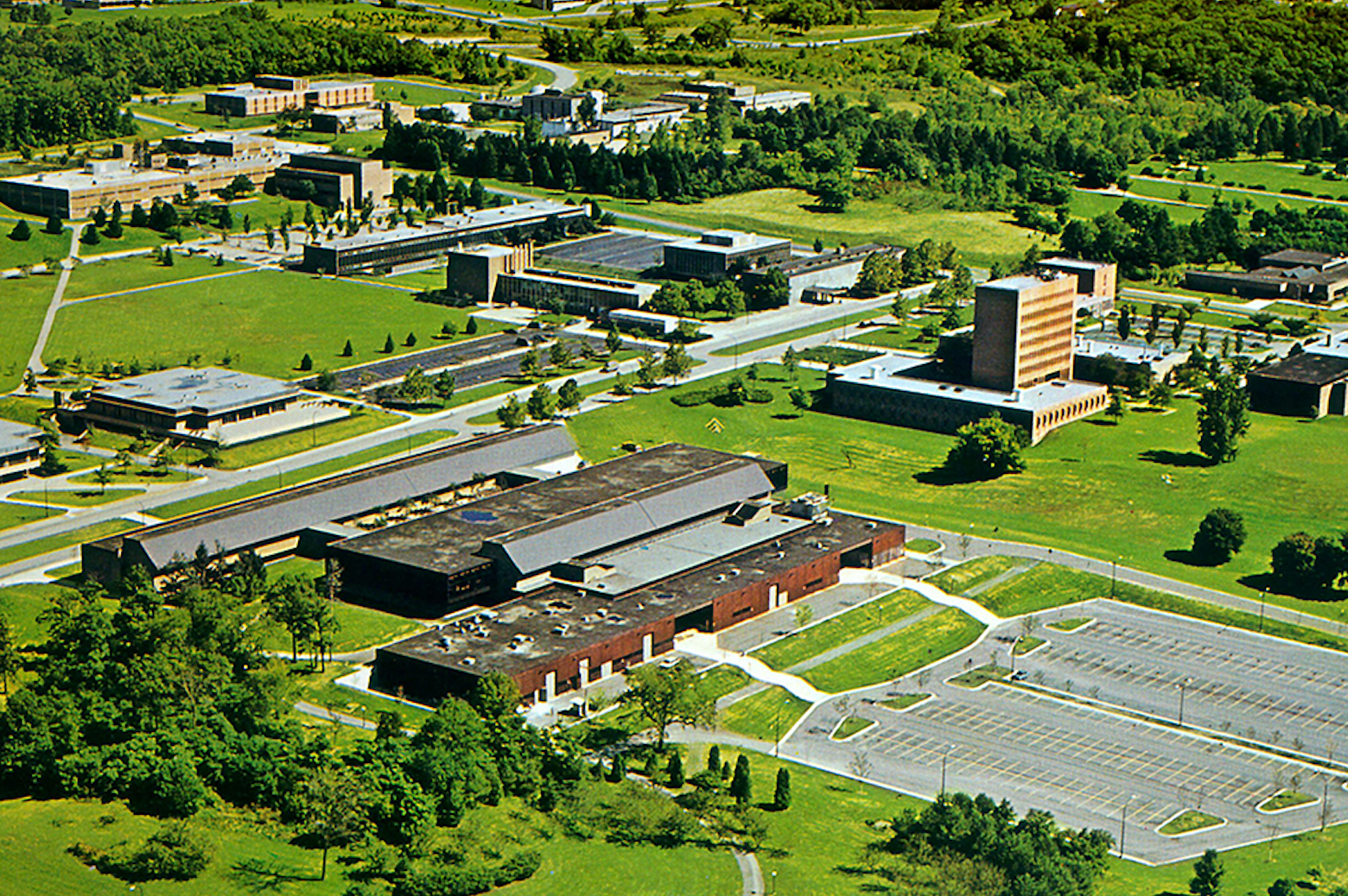 Aerial view of the Automotive engineering building