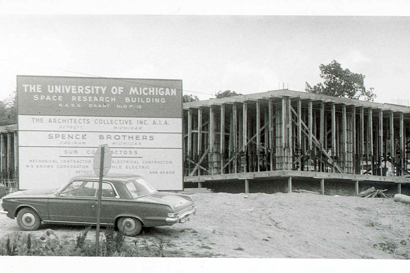 Space research building under construction