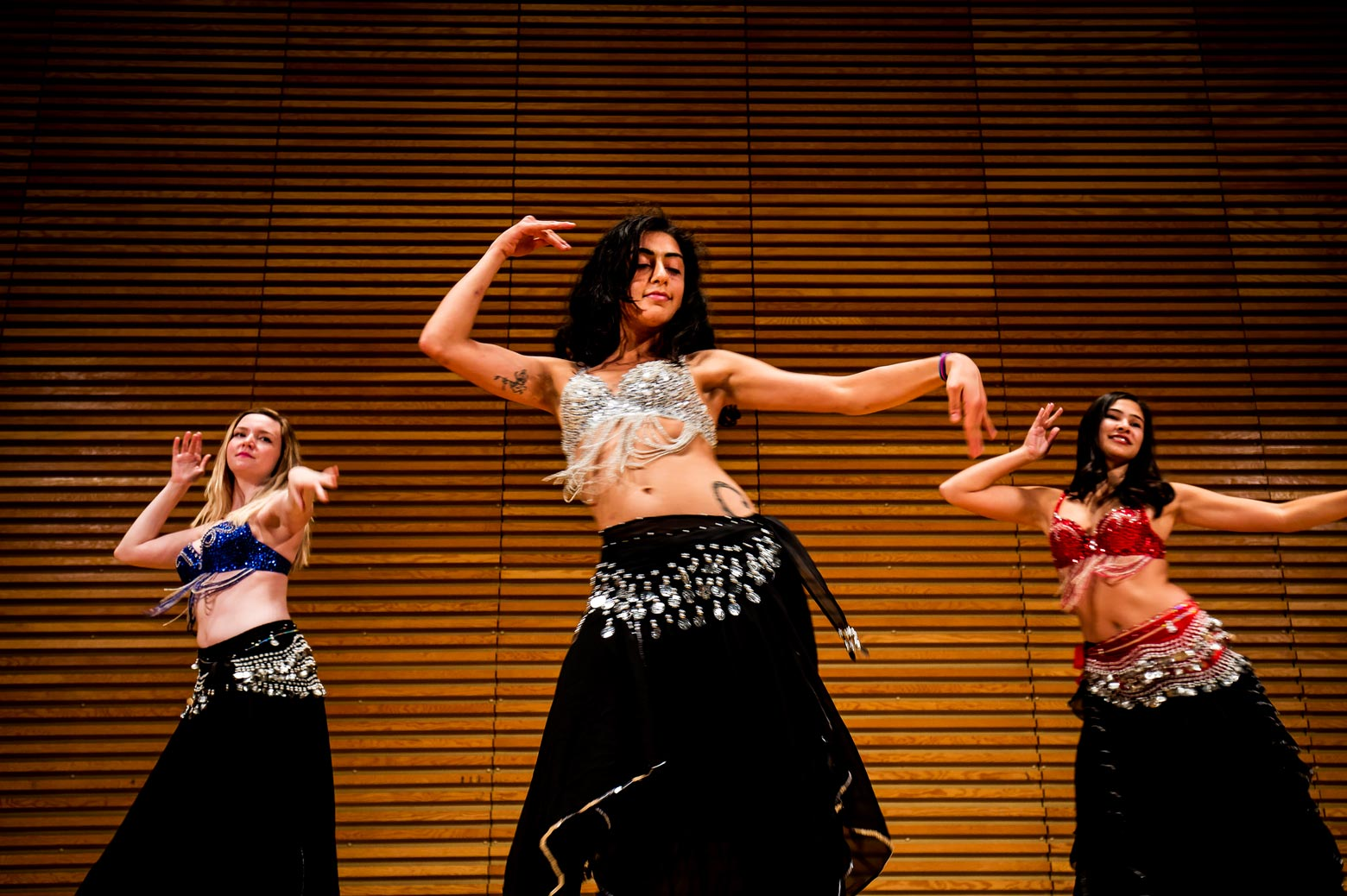 Hipnotics Belly Dance Ensemble performs on stage