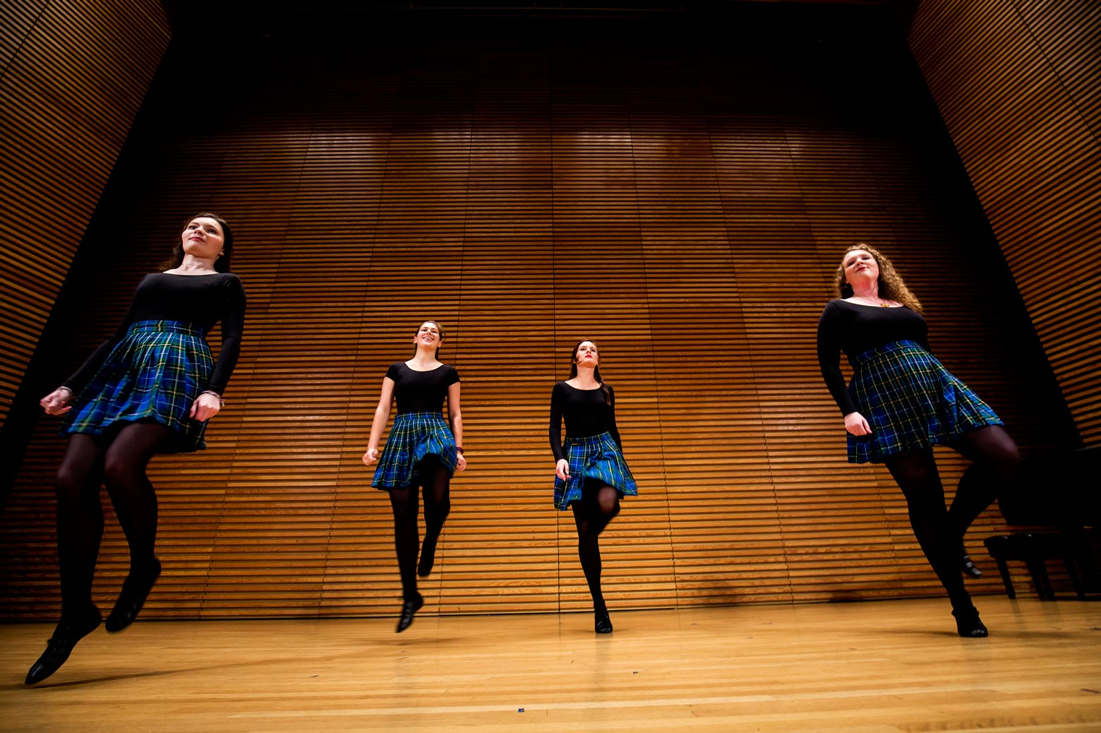 Leim Irish Dance group performs on stage