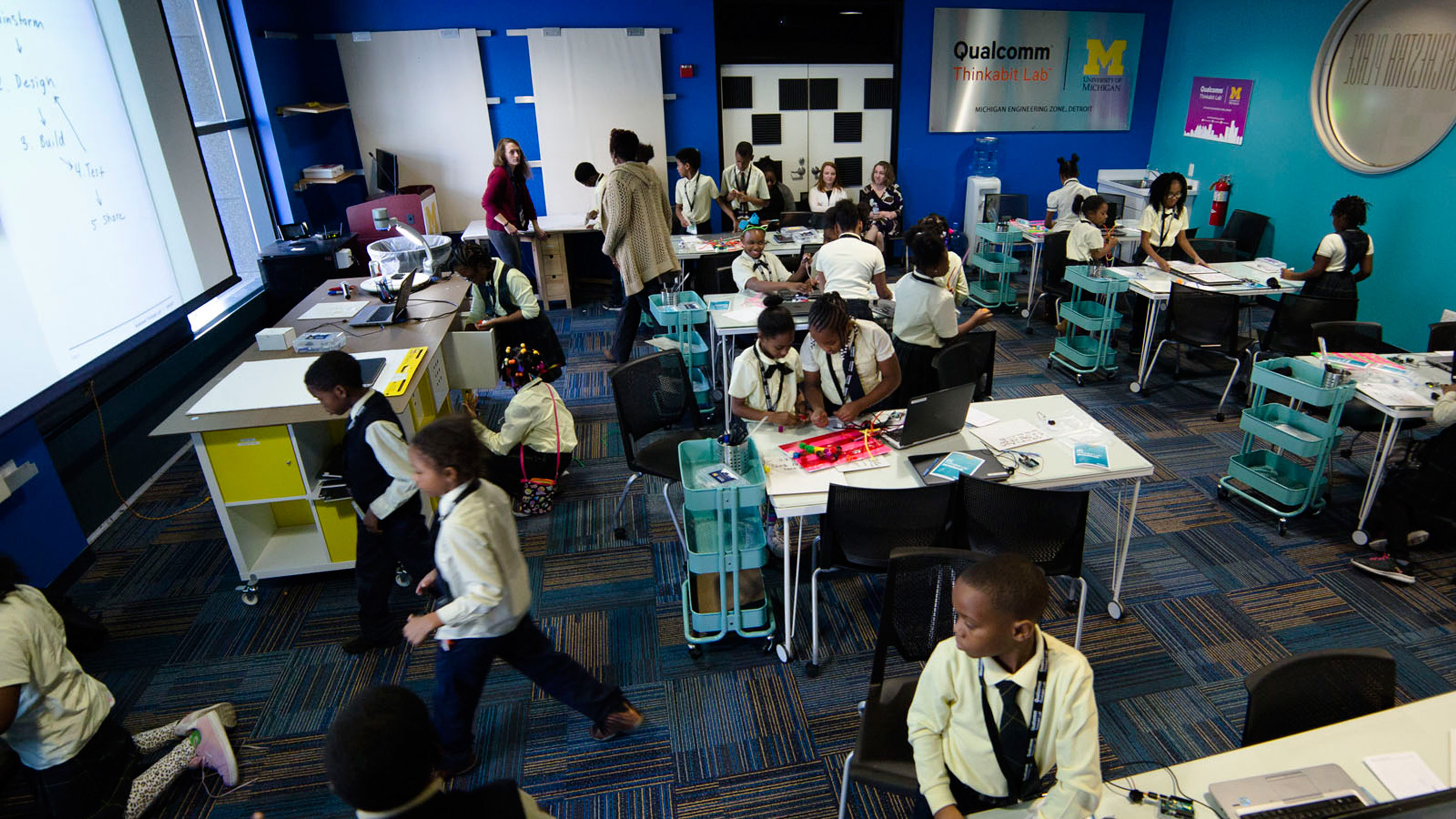 A classroom full of children