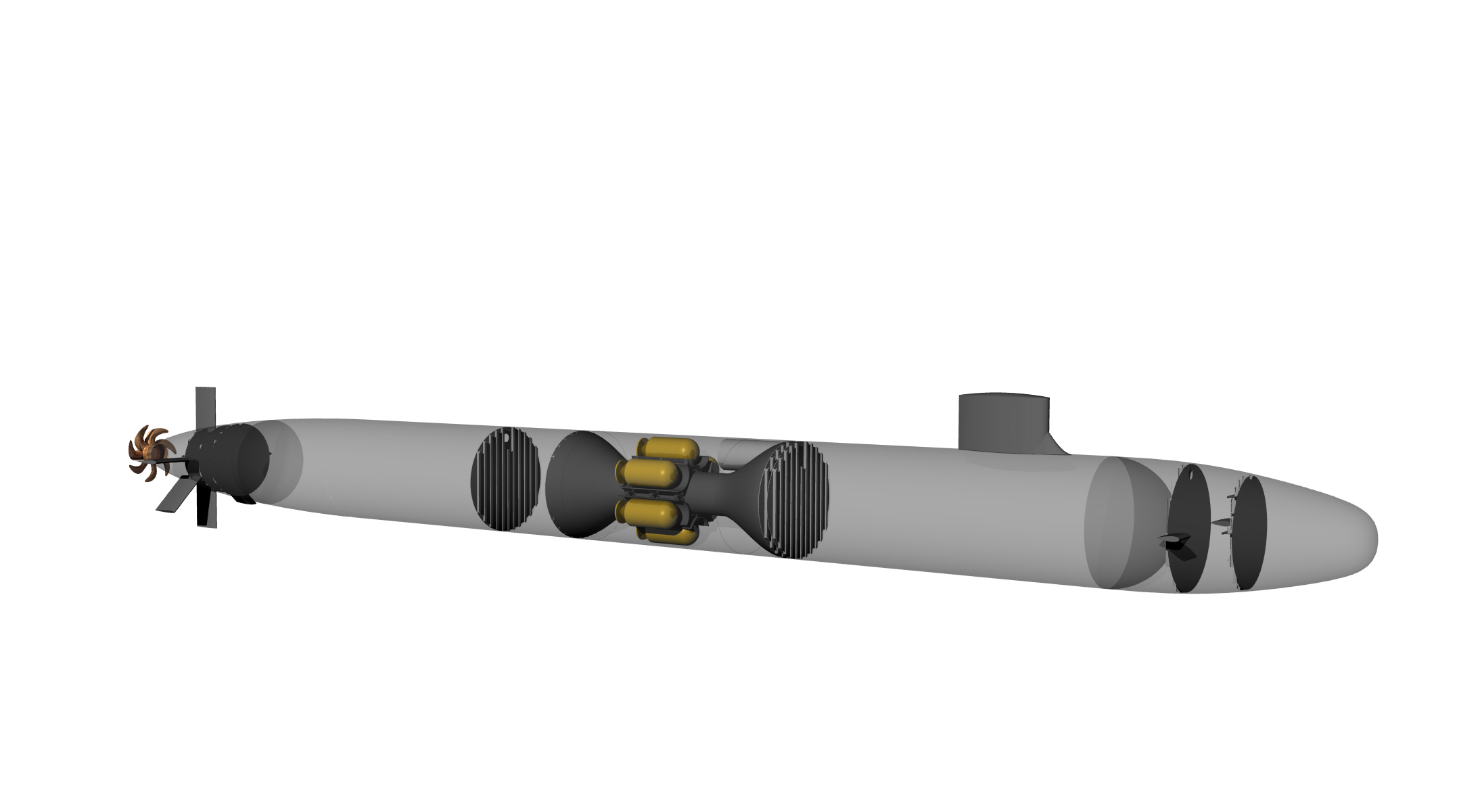 UUV deploying submarine design