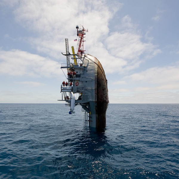 ONR RP FLIP vessel at vertical