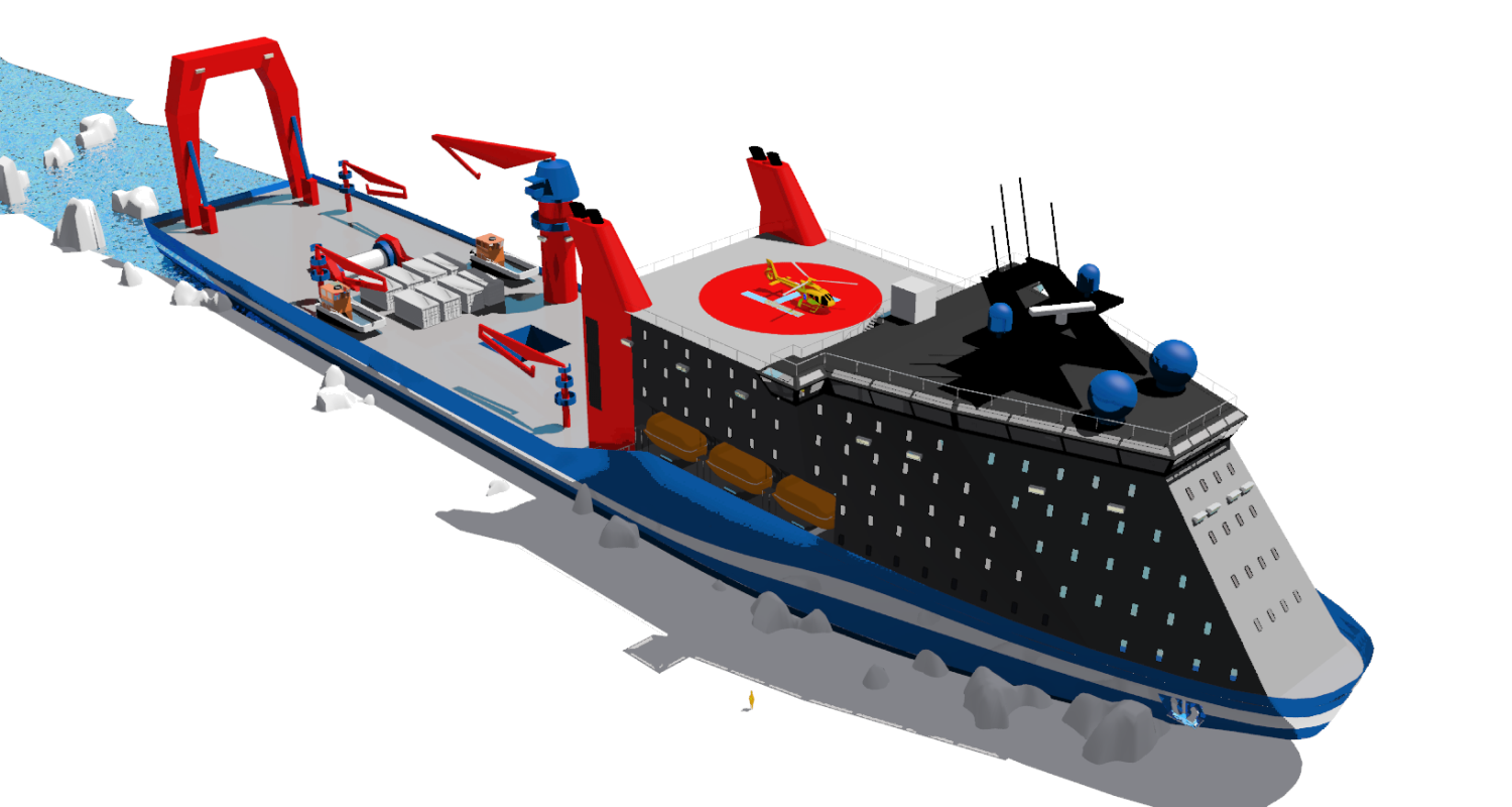 2011 winning design for an Arctic Intervention Icebreaker vessel