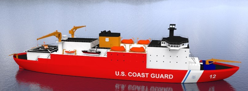 2016 winning design for a replacement heavy icebreaker for the U.S. Coast Guard