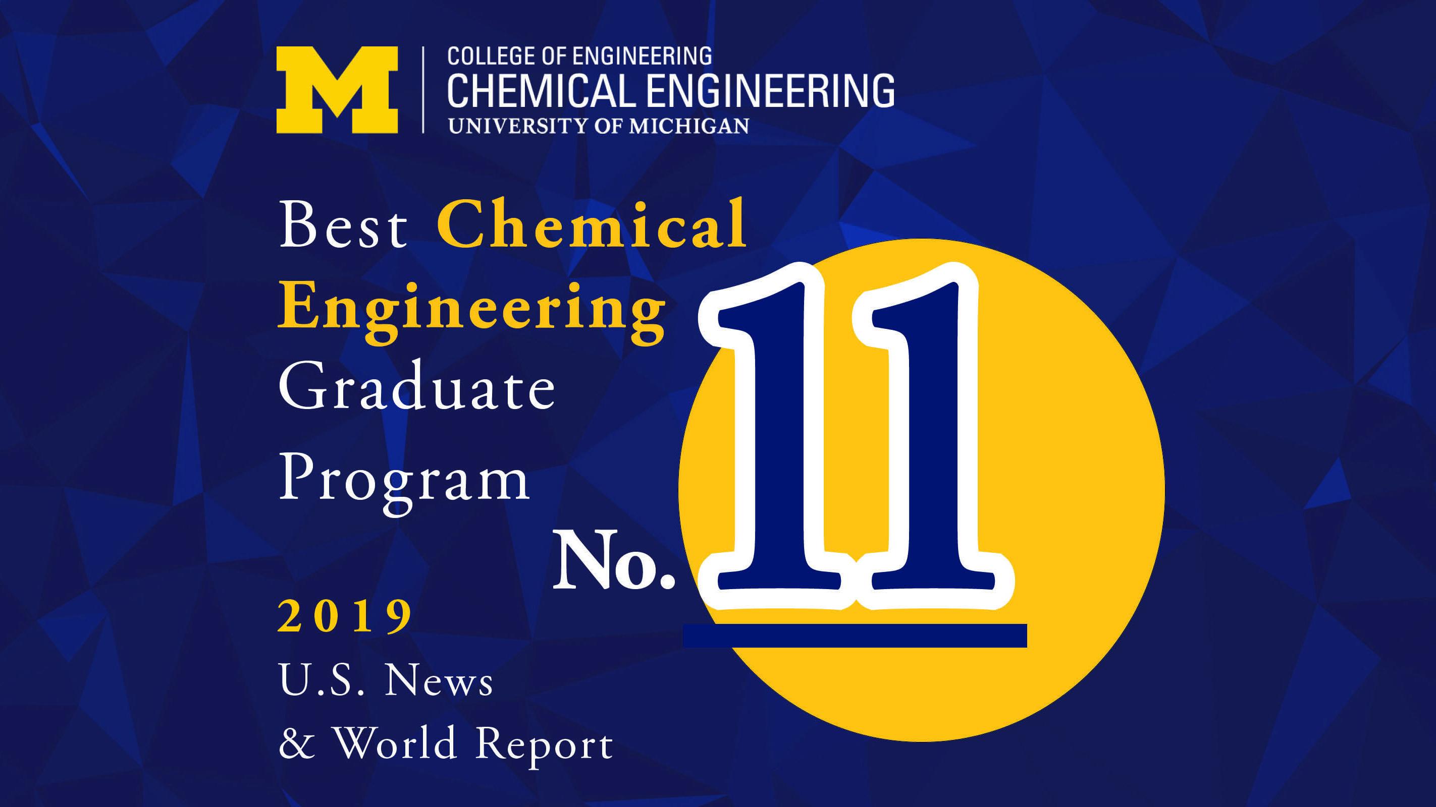 ChE rises in U.S. News & World Report graduate program rankings