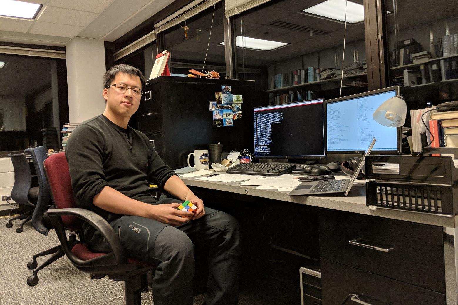 Aerospace Engineering Ph.D. student Daning Huang.