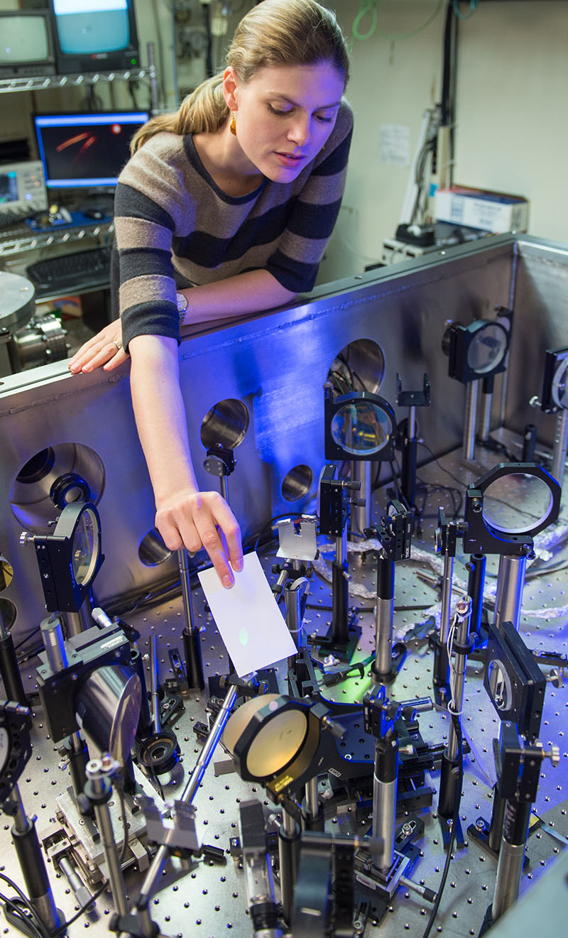 Louise Willingale sets up laser