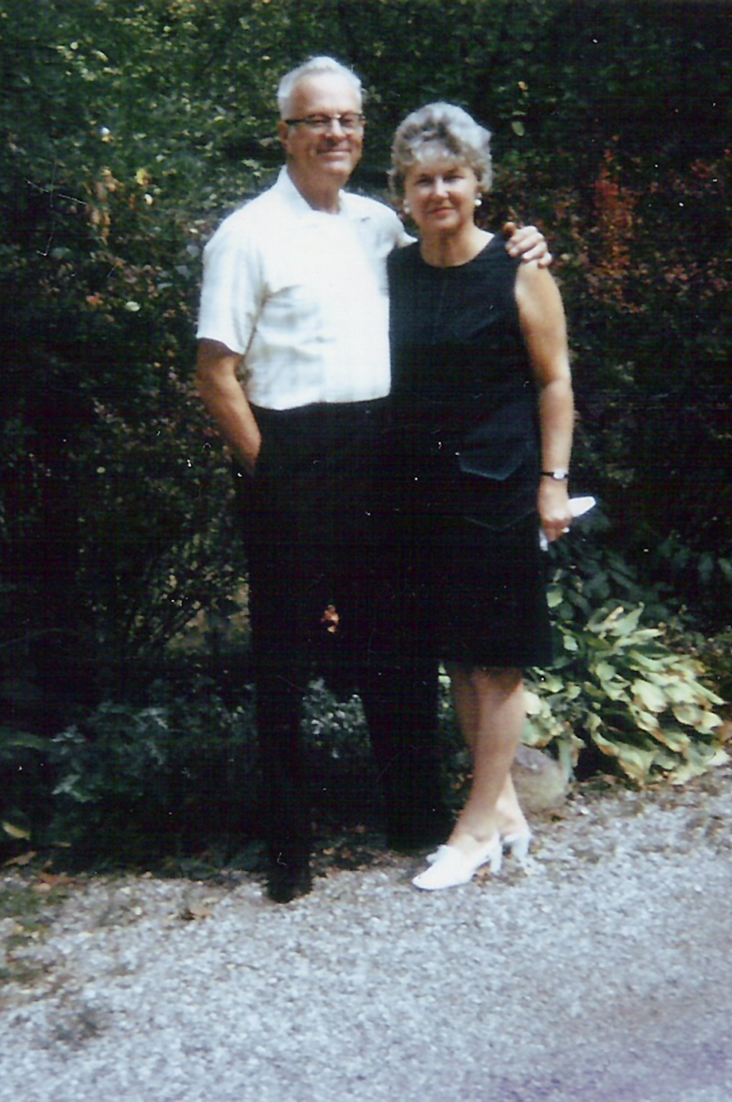 Johnson posing with his wife Thelma