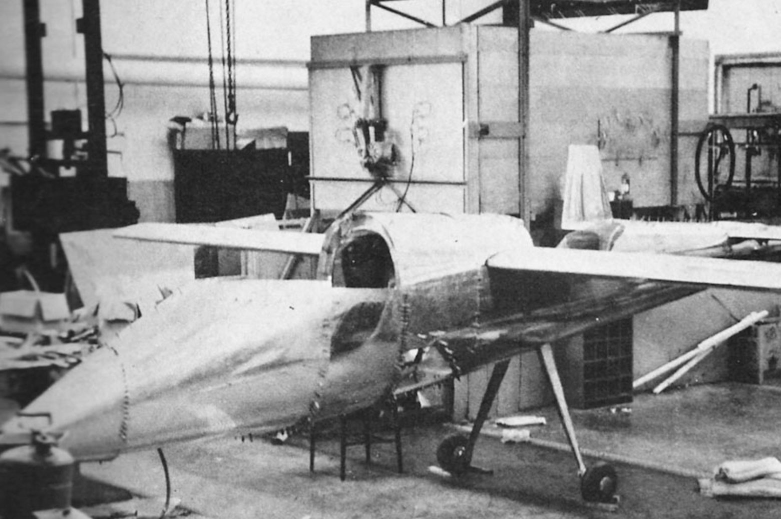 plane under construction