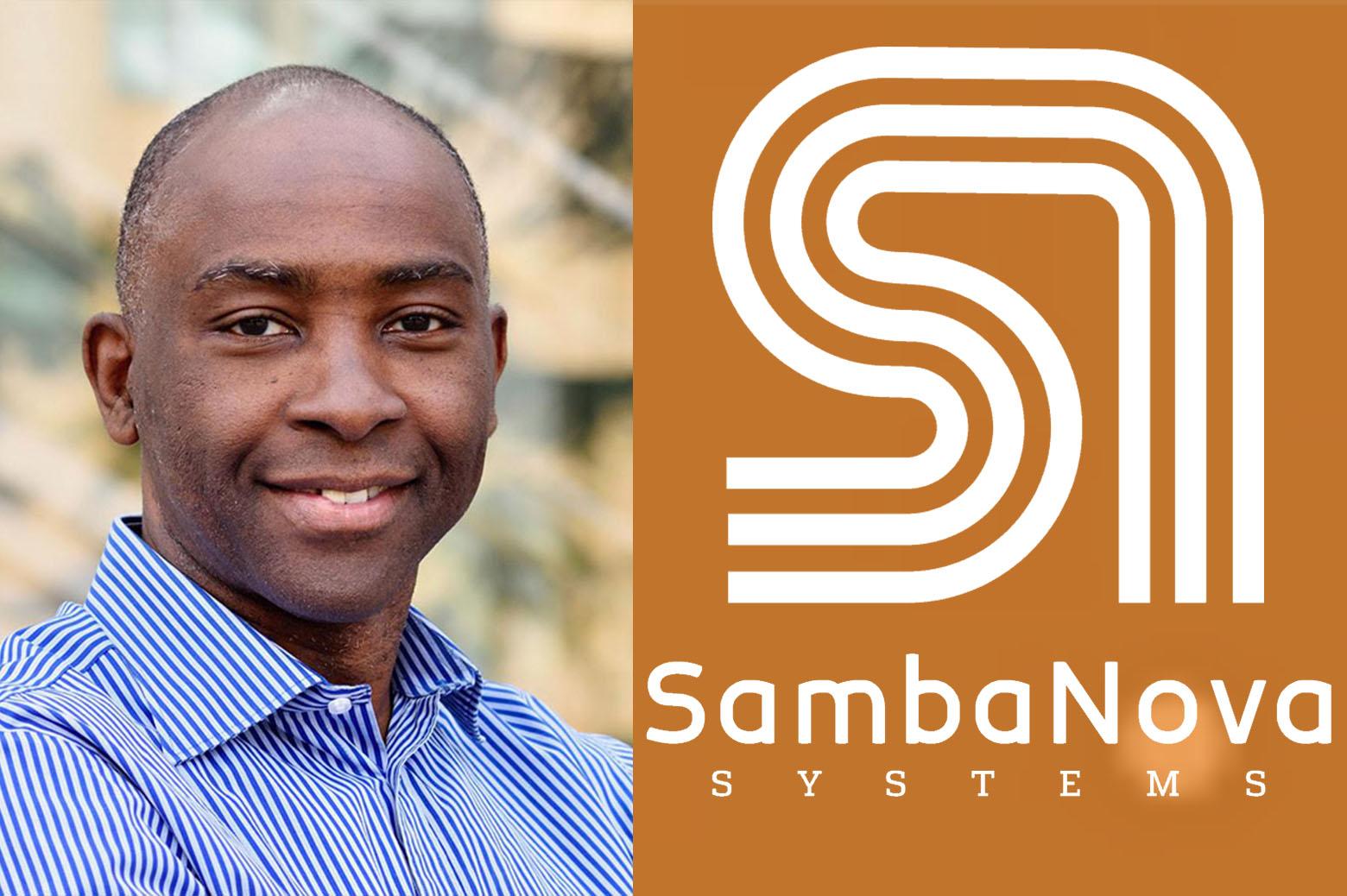 Kunle Olukotun and Sambanova logo