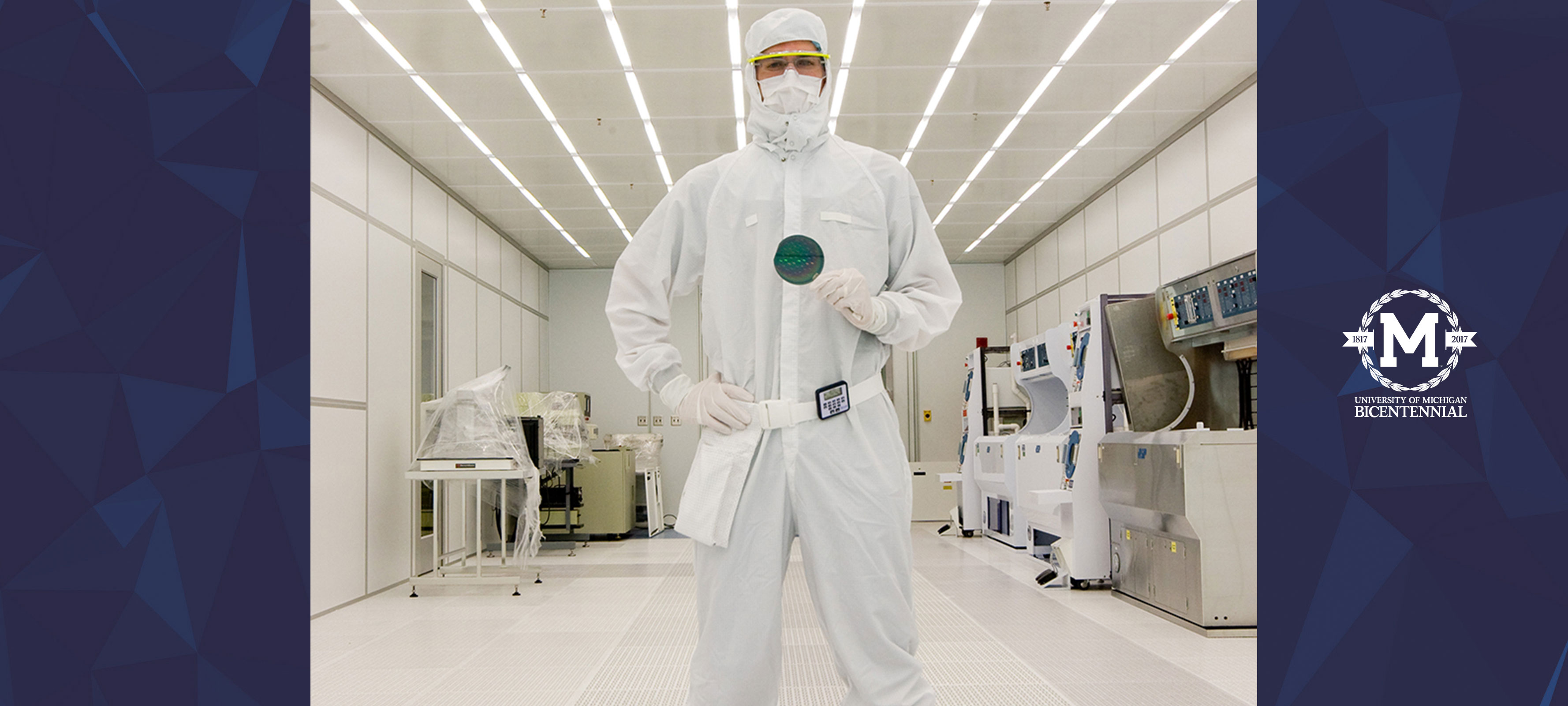 man in clean room