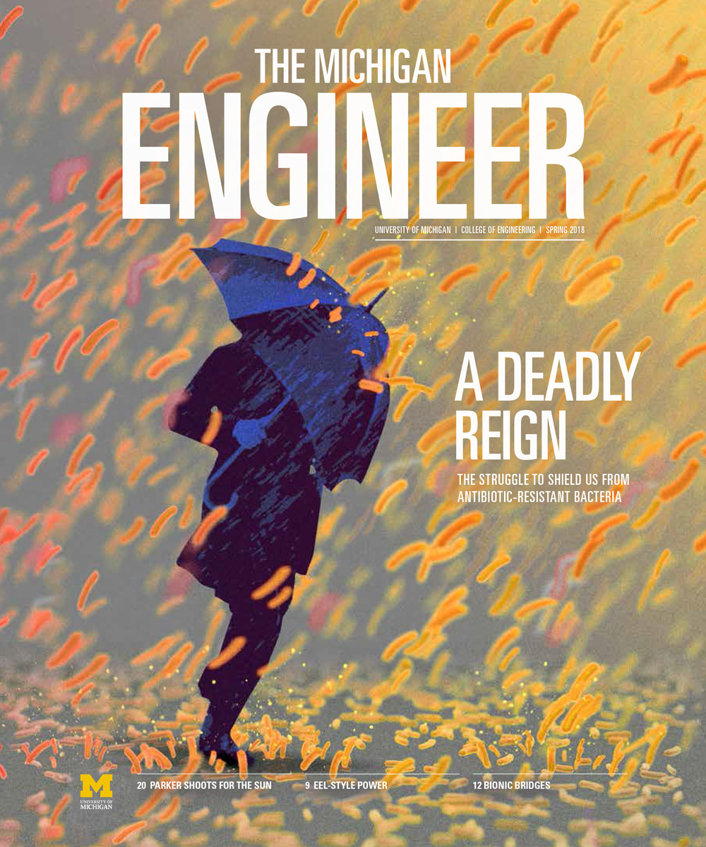 the Michigan Engineer spring 2018 magazine cover