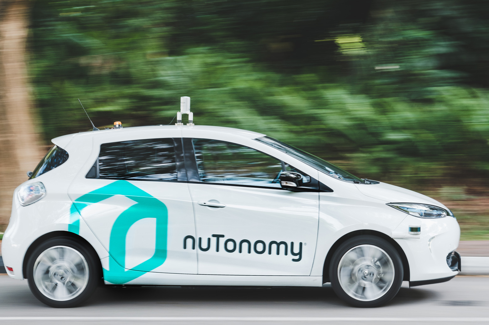 A nuTonomy car on the road