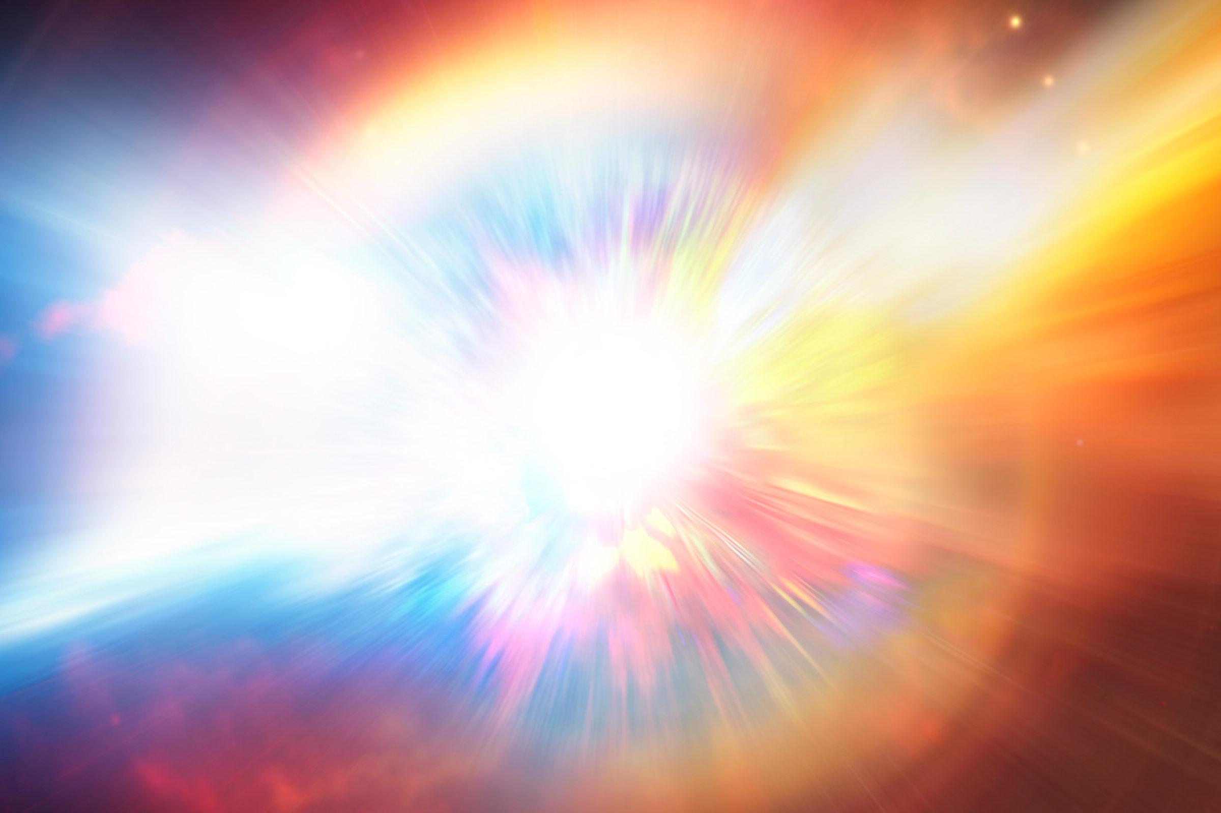 Digital illustration of an exploding star