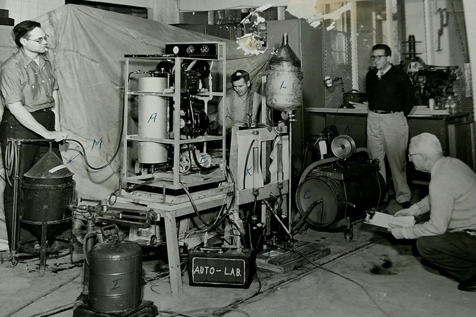 men working in laboratory