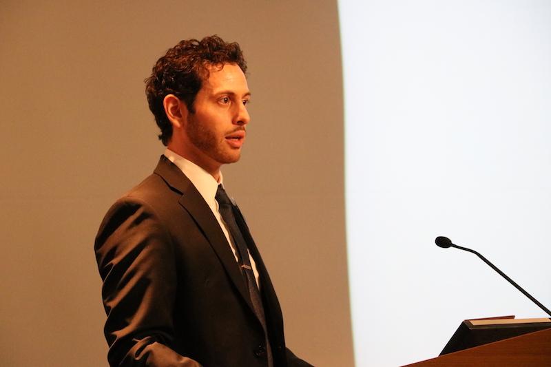 A man presenting