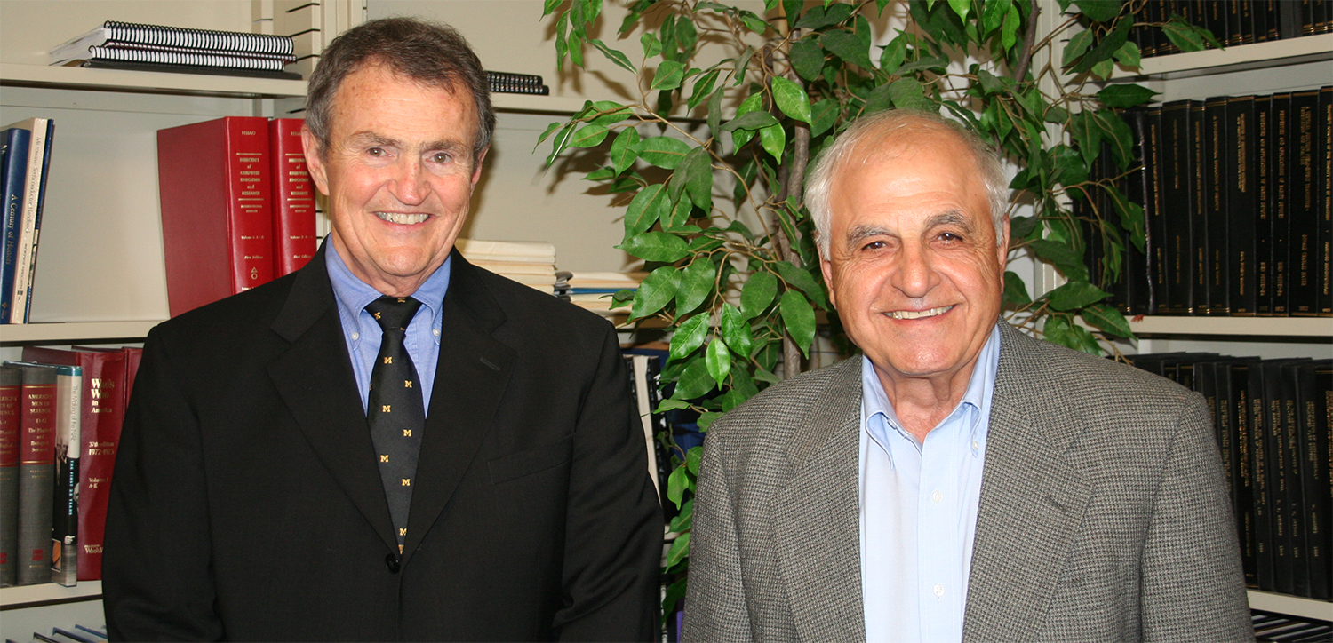 Nino Masnari and George Haddad in 2009