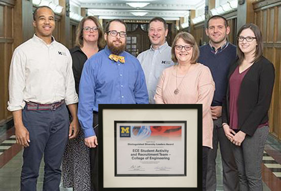 ece team accepting award