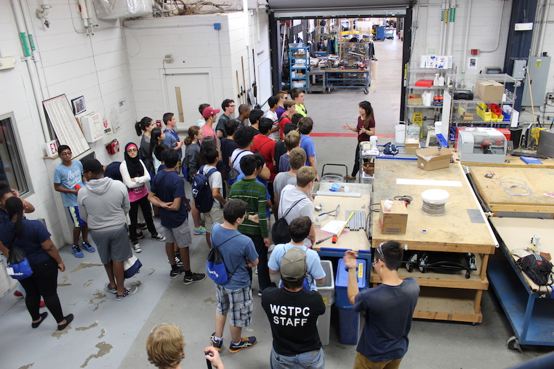 Students in a workshop