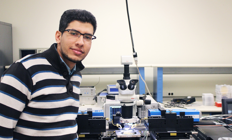 ibrahim with his research