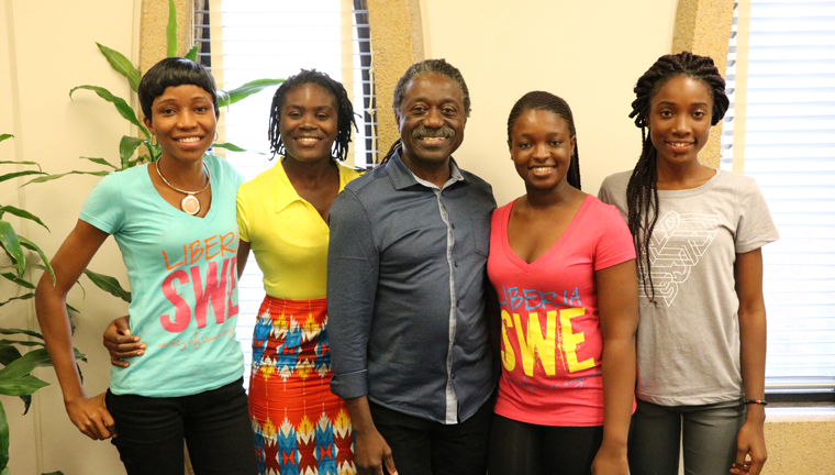 prof winful with visiting liberian students