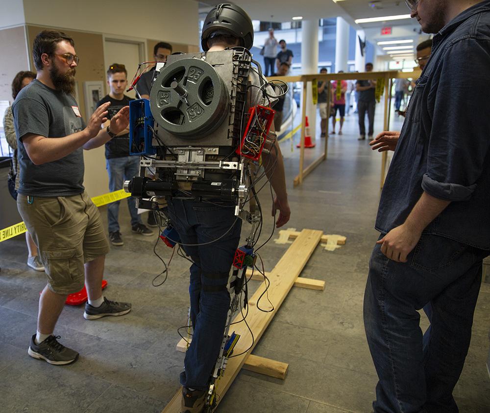 exoskeleton on balance beam
