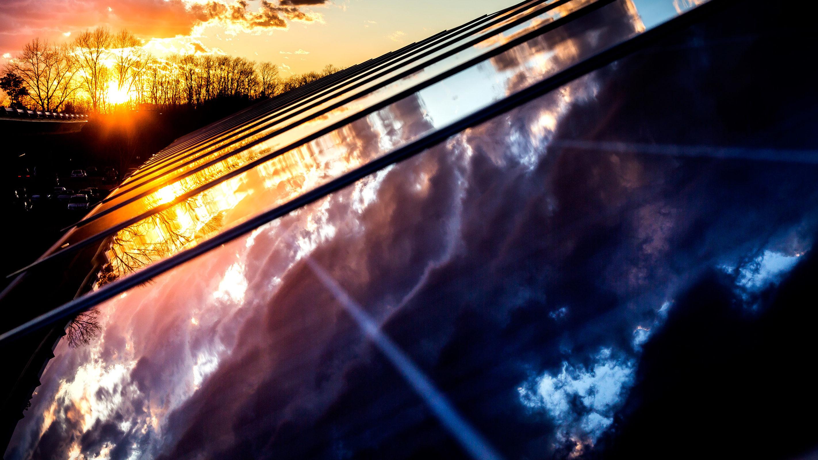 A solar array on U-M's North Campus