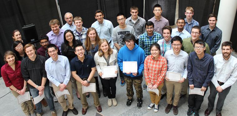 undergraduate student award winners