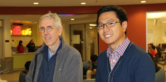 Prof. Alfred Hero and Zhaoshi Meng