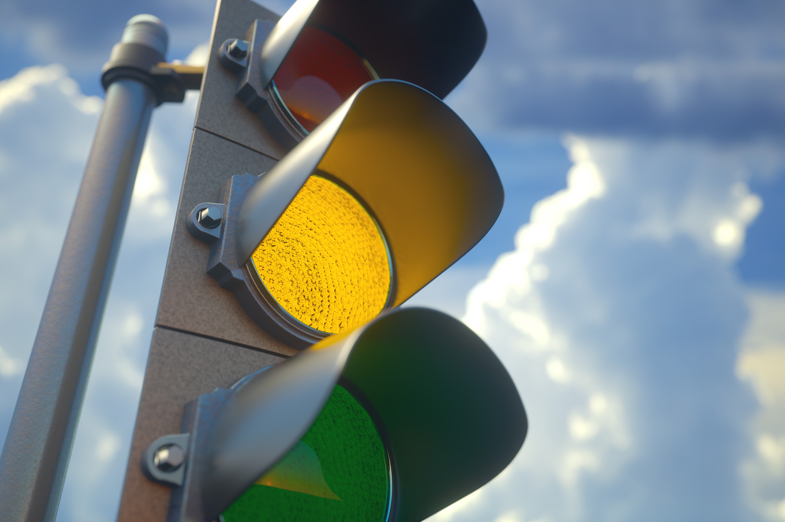 Close up of a traffic light