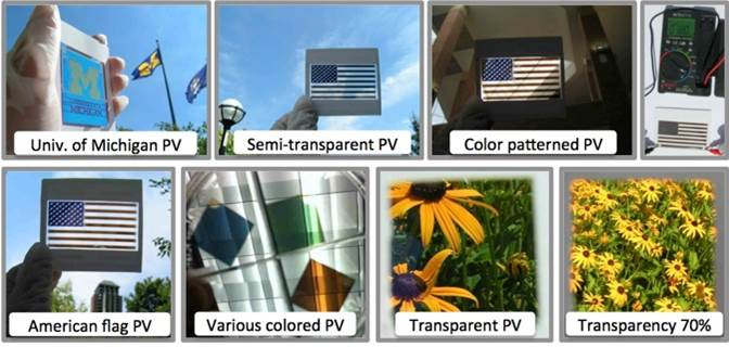 colored solar cells