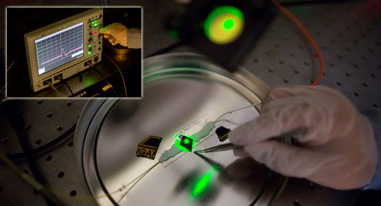 t-ray converts light to sound for weapons detection