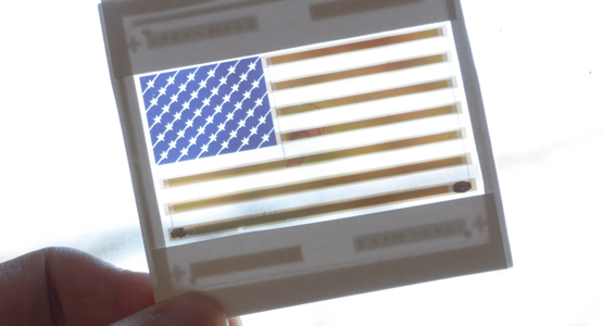 solar cell united states flag