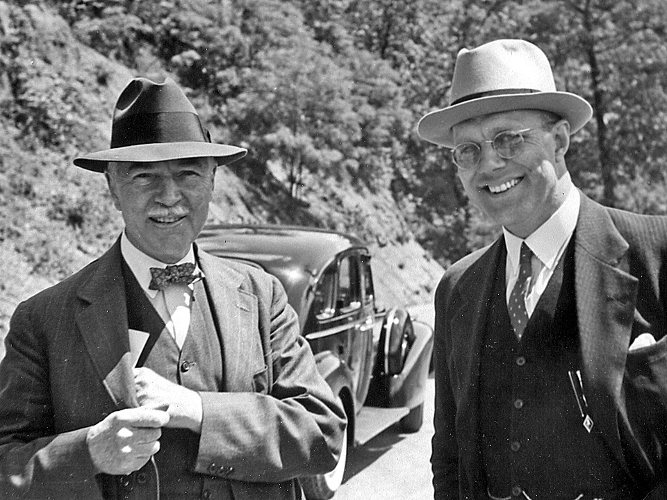 A.H. White and G.G. Brown on a trip to Charleston, West Virginia, at the May 1938 AIChE meeting.