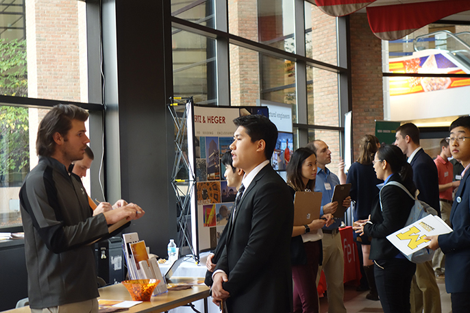 Students talk to industry professionals at the ASCE Career Fair