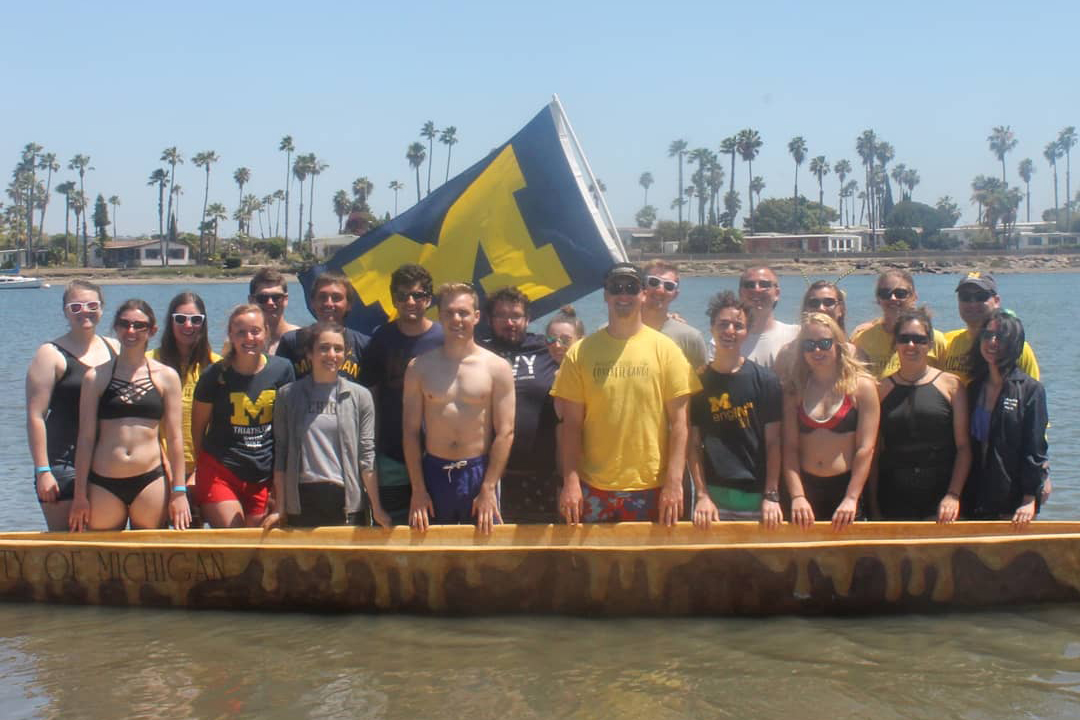 U-M Concrete Canoe team at Nationals